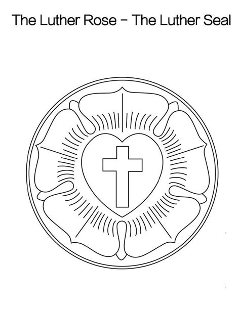 luther rose coloring page 1000 images about martin luther on pinterest lutheran
