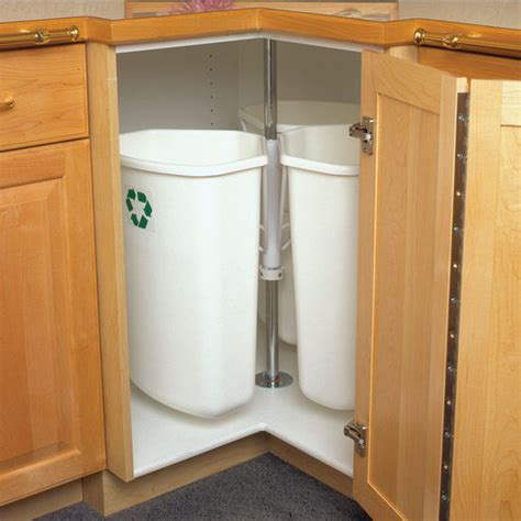 hafele corner recycling center with three 32 quart 8