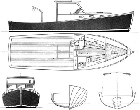 lobster boat designs plans boat plans lobsters and boats on pinterest