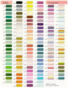 yarn color chart color charts