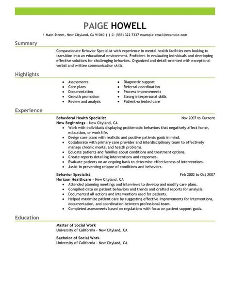 Social Work Resume Example Examples 2015 Creer Pro
