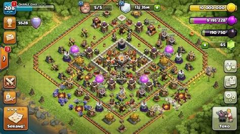 th 11 max bisa cn ld aman jual th 11 all max lvl 208 league legend cn on