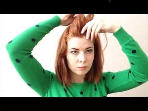 easy ways to style a bob easy ways to style a bob youtube hair pinterest