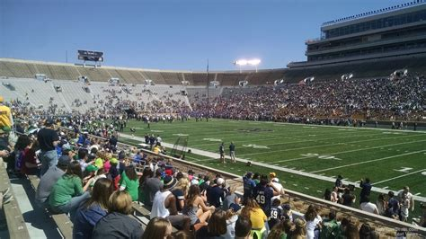 What Is Section 25 by Notre Dame Stadium Section 25 Rateyourseats