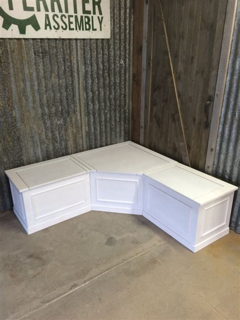 Corner Bench Seating With Storage Banquette Corner Bench Seat With Storage By Prairiewoodworking Storage Ideas