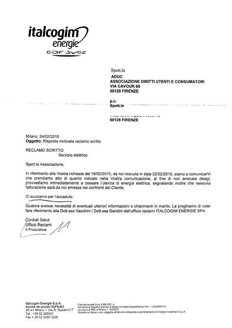 intestazioni lettere commerciali aduc comunicato gestore energetico italcogim la