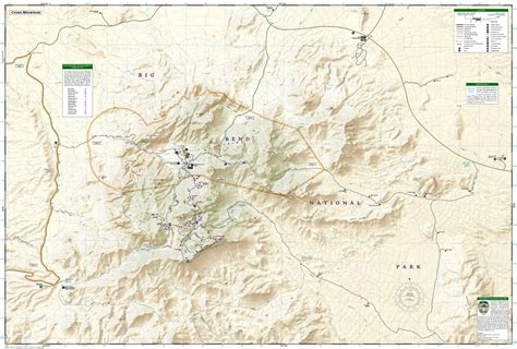 big bend park map big bend national park national geographic trails
