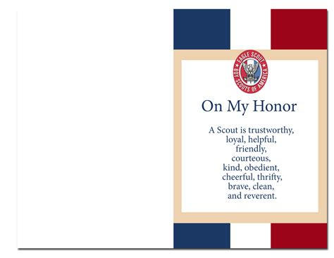 eagle scout court of honor program template