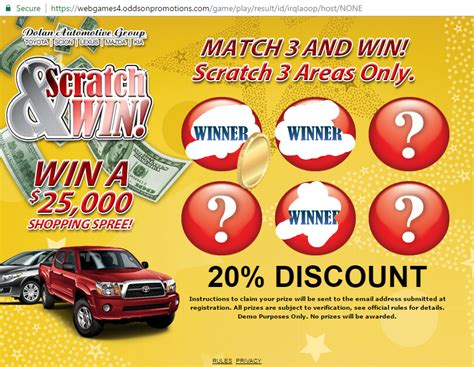 Instant Win Promotions - instant win promotion online promotional games online