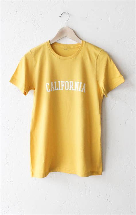 california yellow trendy
