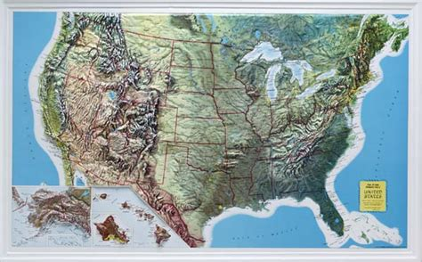 raised relief maps 3d topographic map united states series