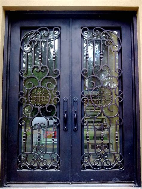 one of our favorite custom wrought iron entry doors