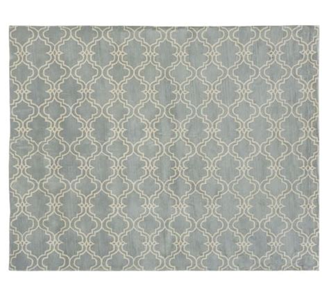 porcelain blue rug scroll tile rug porcelain blue pottery barn