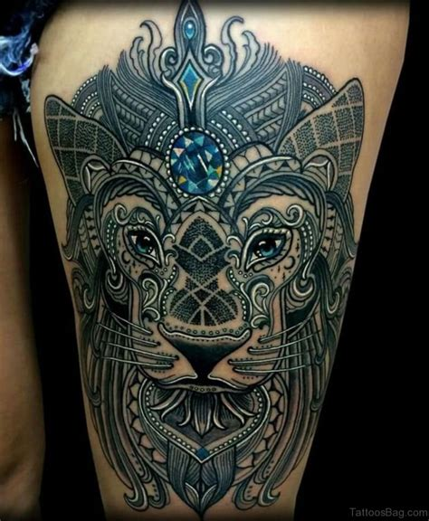 lion thigh tattoos 48 looking tattoos on thigh