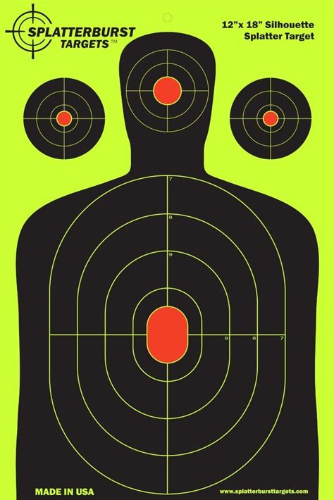 free printable military targets 50 pack 12 quot x18 quot silhouette splatterburst target