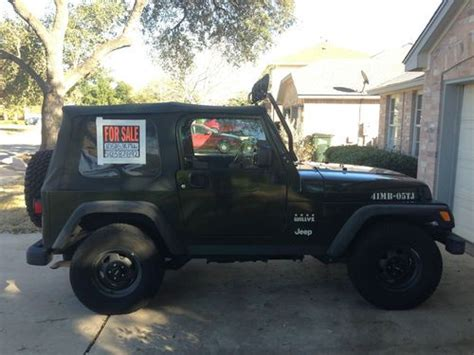 Jeep Wrangler Edition For Sale Find Used 2005 Jeep Wrangler Willys Limited Edition In