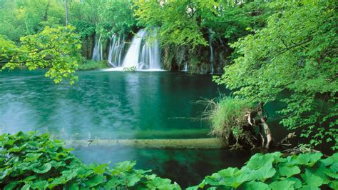 Landscape Pictures Waterfalls Landscapes Croatia Lakes Waterfalls National Park Plitvice