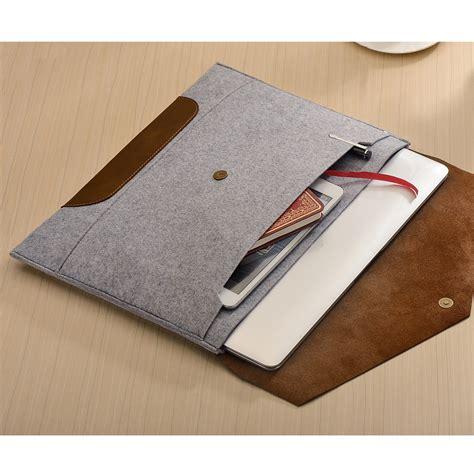 2016 Promotion New Laptop Bag Sleeve For All Brands - envelope macbook sleeve grey chestnut leather 15