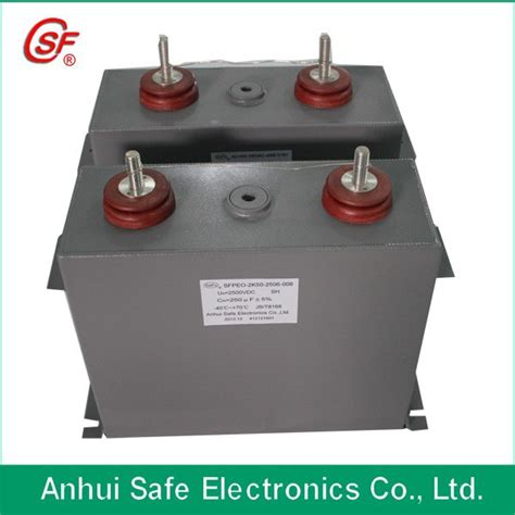 filled high voltage capacitor high frequency filled power pulsed high voltage dc filter capacitor