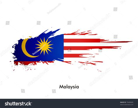 design logo online malaysia malaysia flag with grunge design vector illustration