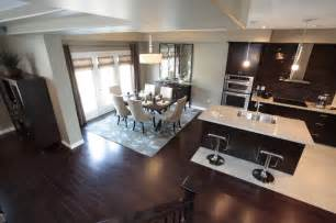 model home kitchen and dining room modern kitchen