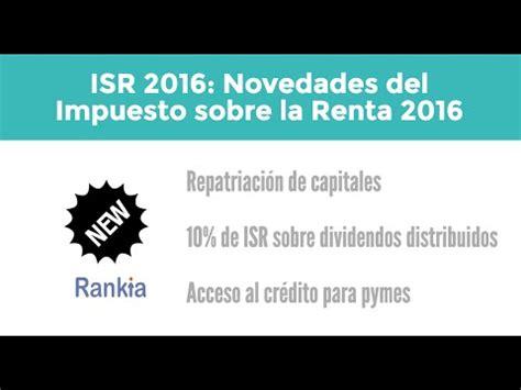 gaceta oficial impuesto sobre la renta 2016 sat