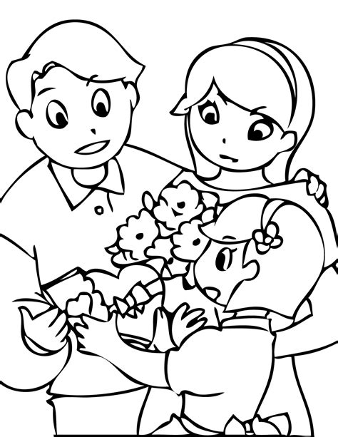 coloring pages of children s day parents day coloring pages parent day coloring pages free