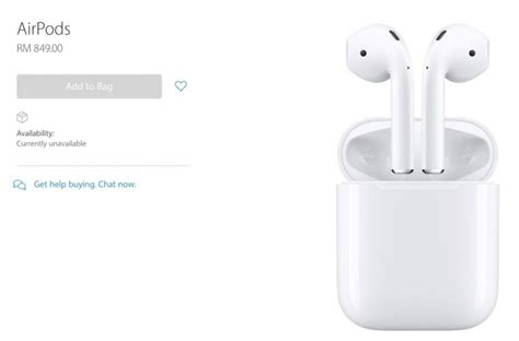 apple x malaysia apple malaysia s online store reveals price of airpods in