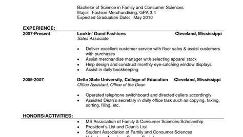 Retail Clothing Resume by Clothing Store Sales Associate Resume Clothing Retail Sales Resume Sle With Experience