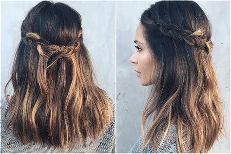 how to do a crown braid in 60 seconds with me