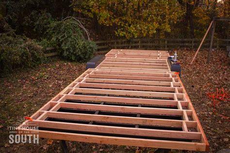 A Frame House Floor Plans Tiny House Subfloor Construction Part Ii Flashing