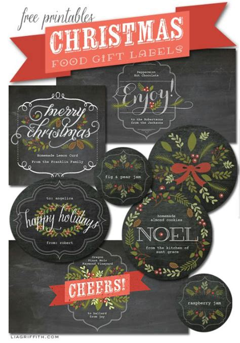 printable labels for your fall food gifts by lia griffith 31 free printables