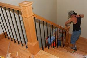home depot stair railings interior handrail construction andrew watkins custom homebuilding