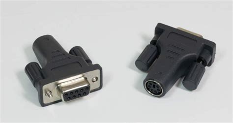 Adaptor Ps2 Slim Seri 9 ps2f mouse to db9f serial port adapter ps2 minidin 6 black