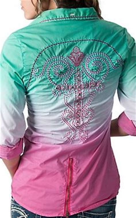 Blouse Batik Cantika Green White Yo roar 174 s ikat fight it pink with embroidery crystals 3 4 sleeve western shirt