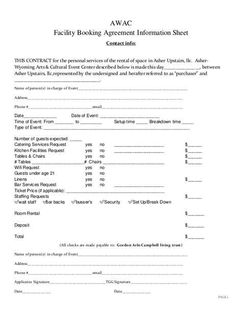 church rental agreement