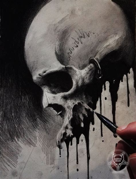 ink skull iii by andreyskull on deviantart