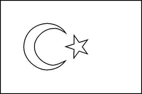 free flag of turkey coloring pages