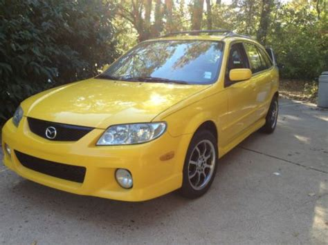 find used 2002 mazda protege 5 yellow custom leather