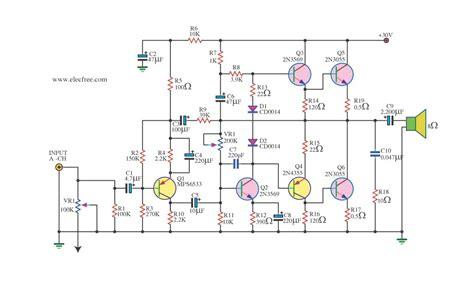 2n3055 transistor audio lifier three simple 50w otl audio lifier circuit by 2n3055