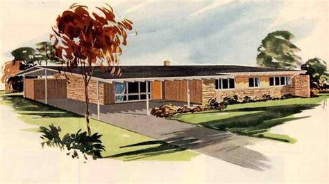 California Bungalow Floor Plans Ranch Style House Plans 1950s 1950 California Ranch Style