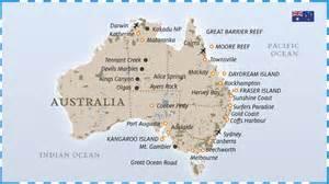 In Australia Australia Mappa Turistica