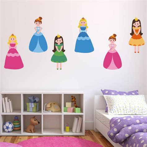princess stickers for walls princess fabric wall stickers pack by mirrorin notonthehighstreet