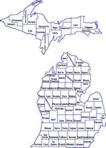 County Map Of Michigan by Gallery For Gt Michigan Map With County Lines