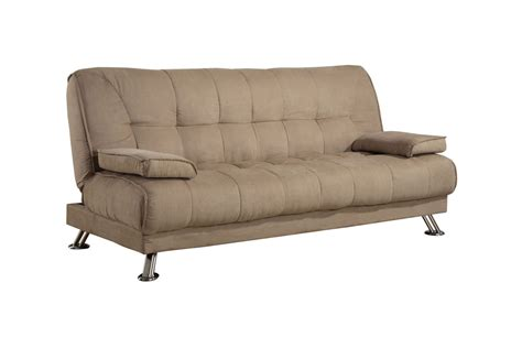 futon microfiber beige microfiber futon 300147 at gardner white