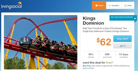 printable kings island tickets hton roads locals king s dominion tickets 1 2 off on