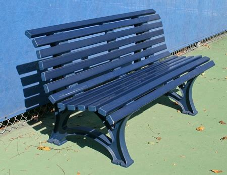 tennis benches for courts deluxe 5ft courtsider tennis court bench open blue