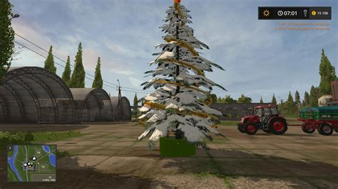 placeable christmas tree v1 1 fs17 farming simulator