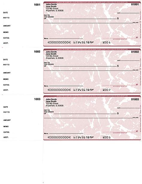 Desk Checks 3 Per Page marble 3 per page wallet checks desk checks up to 70 buychecksbymail