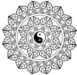 Lotus Flower Mandala Coloring Pages Printable L L L